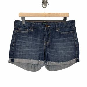 J. Crew Factory Denim Shorts Dark Wash Size 6